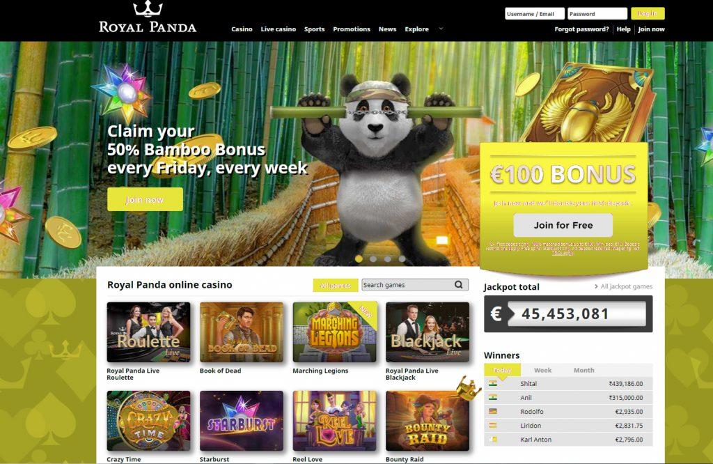 Royal Panda - Tennis Betting Sites