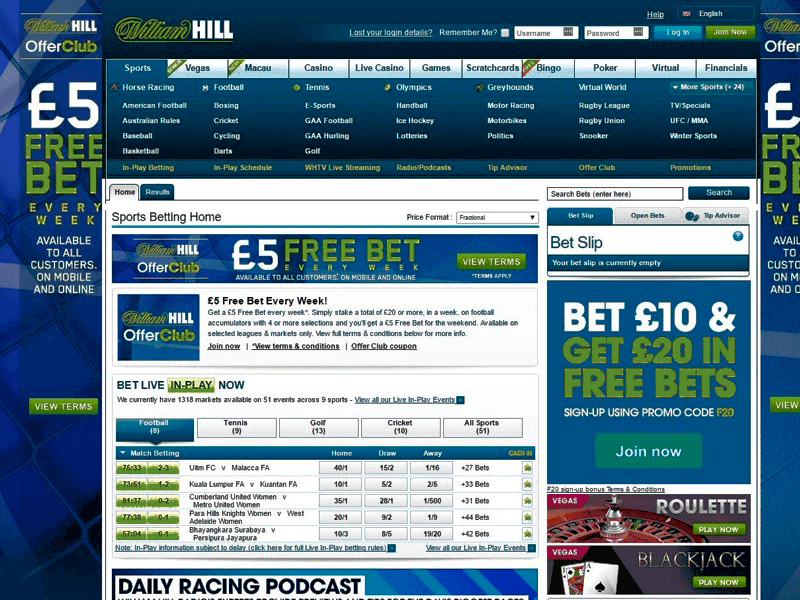houses of William Hill Betting